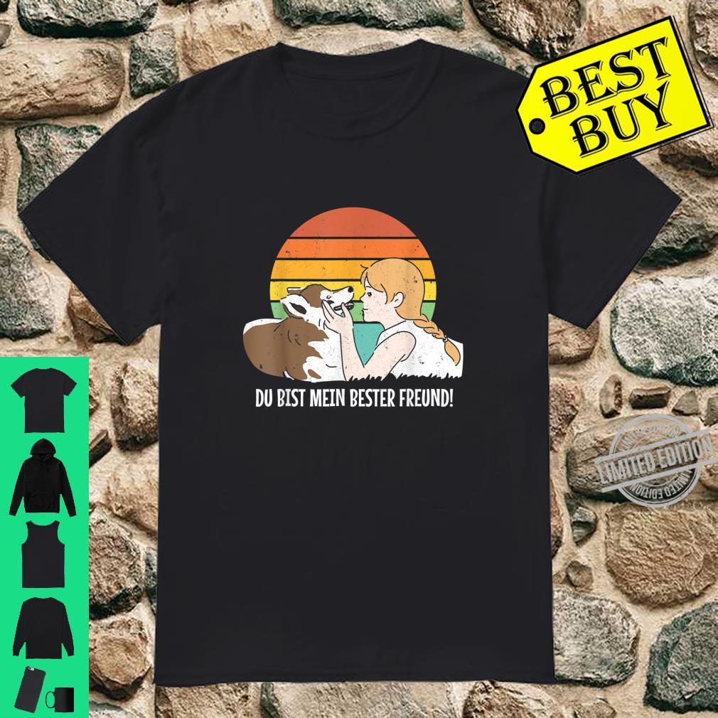 Hund Haustier Hundehalter Motiv mit Mädchen bester Freund Shirt