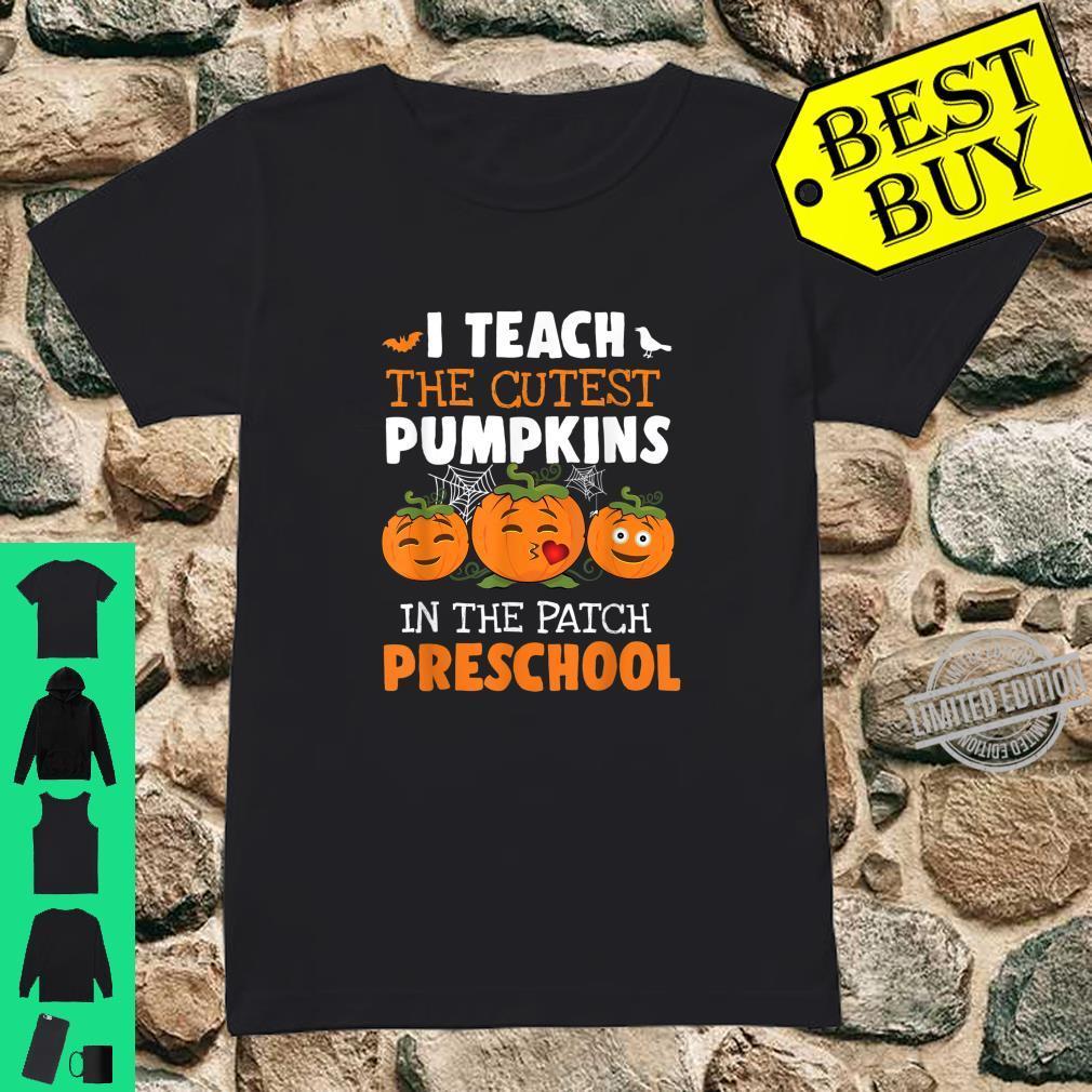 I Teach Cutest Pumpkins Preschool Halloween Teacher Shirt ladies tee