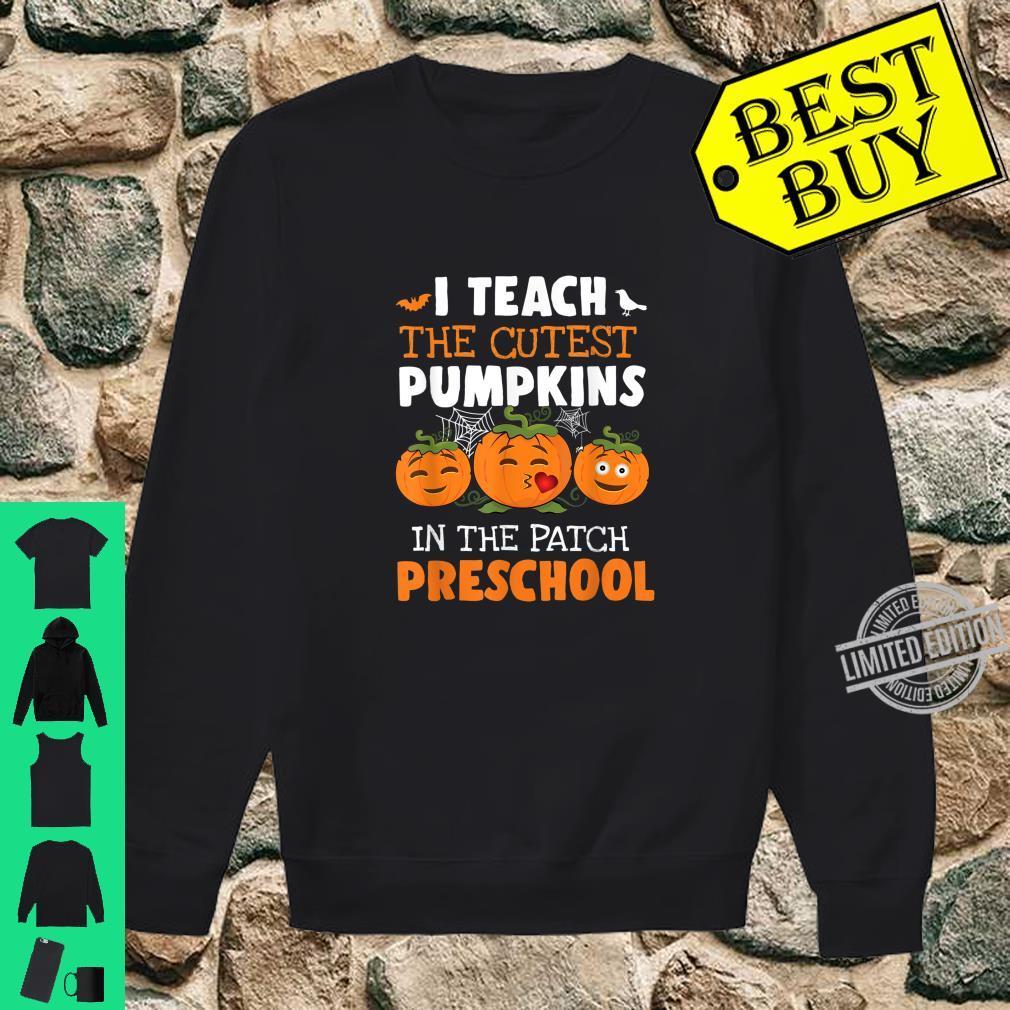 I Teach Cutest Pumpkins Preschool Halloween Teacher Shirt sweater