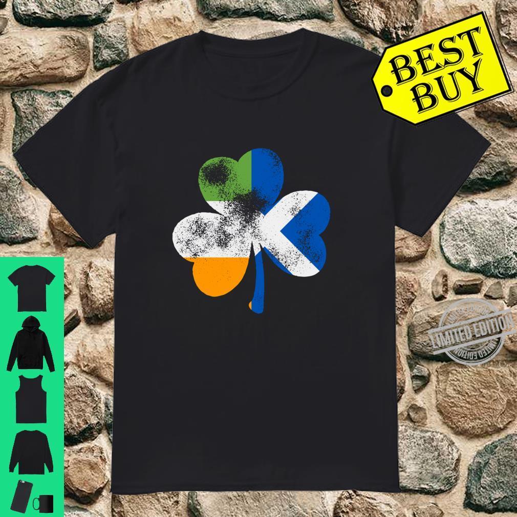 Irish Scottish Shamrock Scottish Flag St. Patrick's Day Shirt