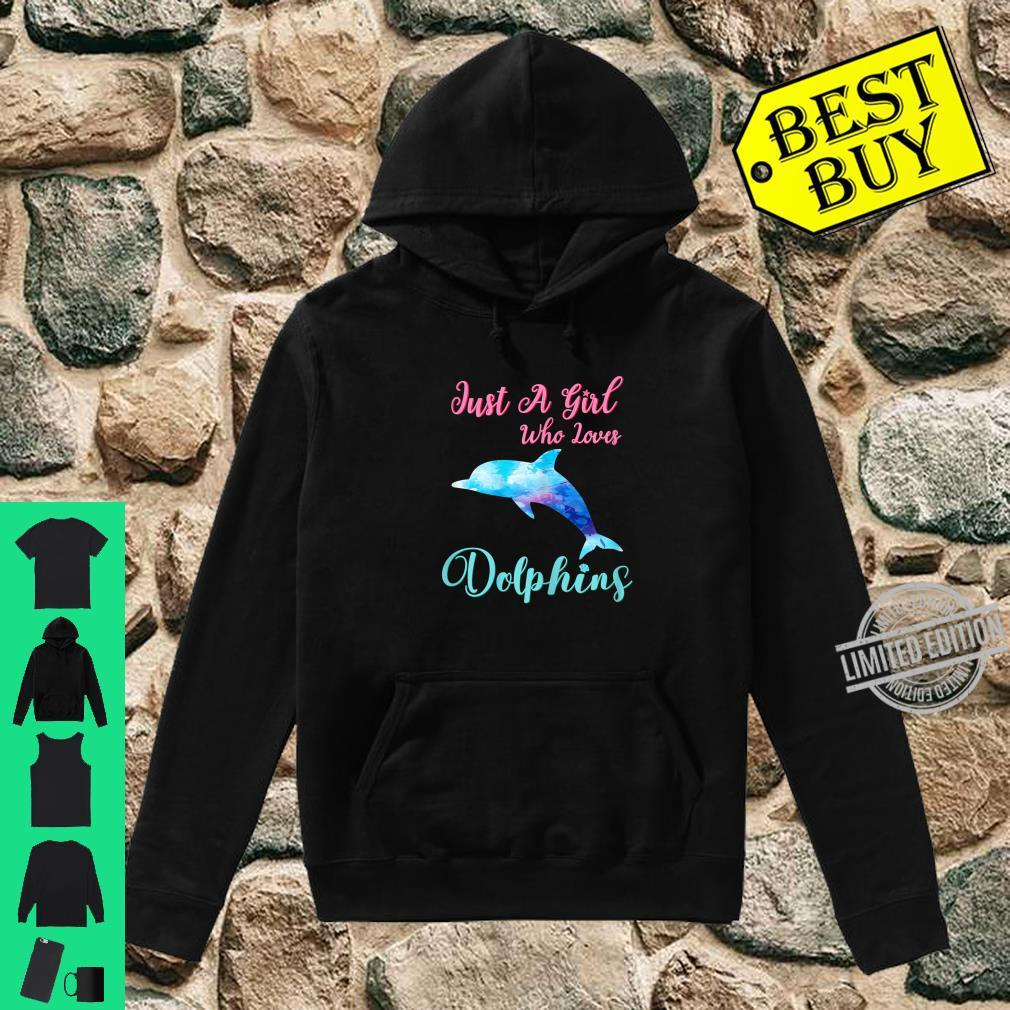 Just A Girl Who Loves Dolphins Cute Dolphin Watercolor Beach Shirt hoodie