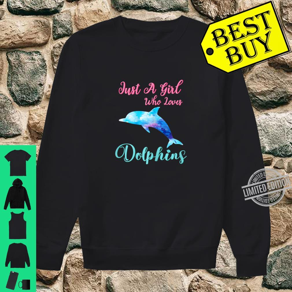 Just A Girl Who Loves Dolphins Cute Dolphin Watercolor Beach Shirt sweater