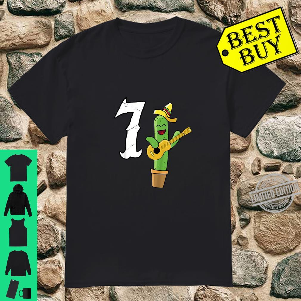 Kids Cactus Mexican 7th Birthday Cinco De Mayo Shirt