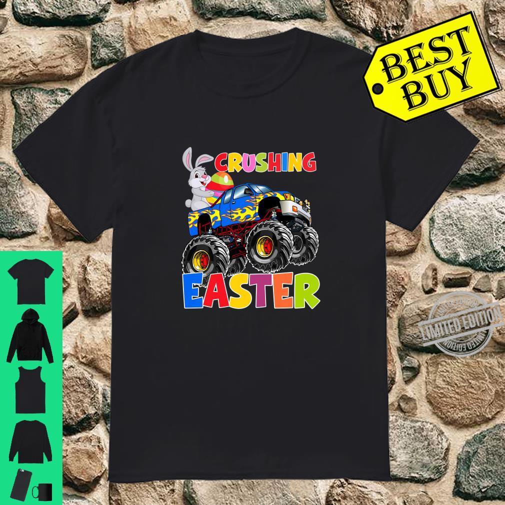 Kids Monster Truck Easter Crushing Easter Easter Egg Shirt