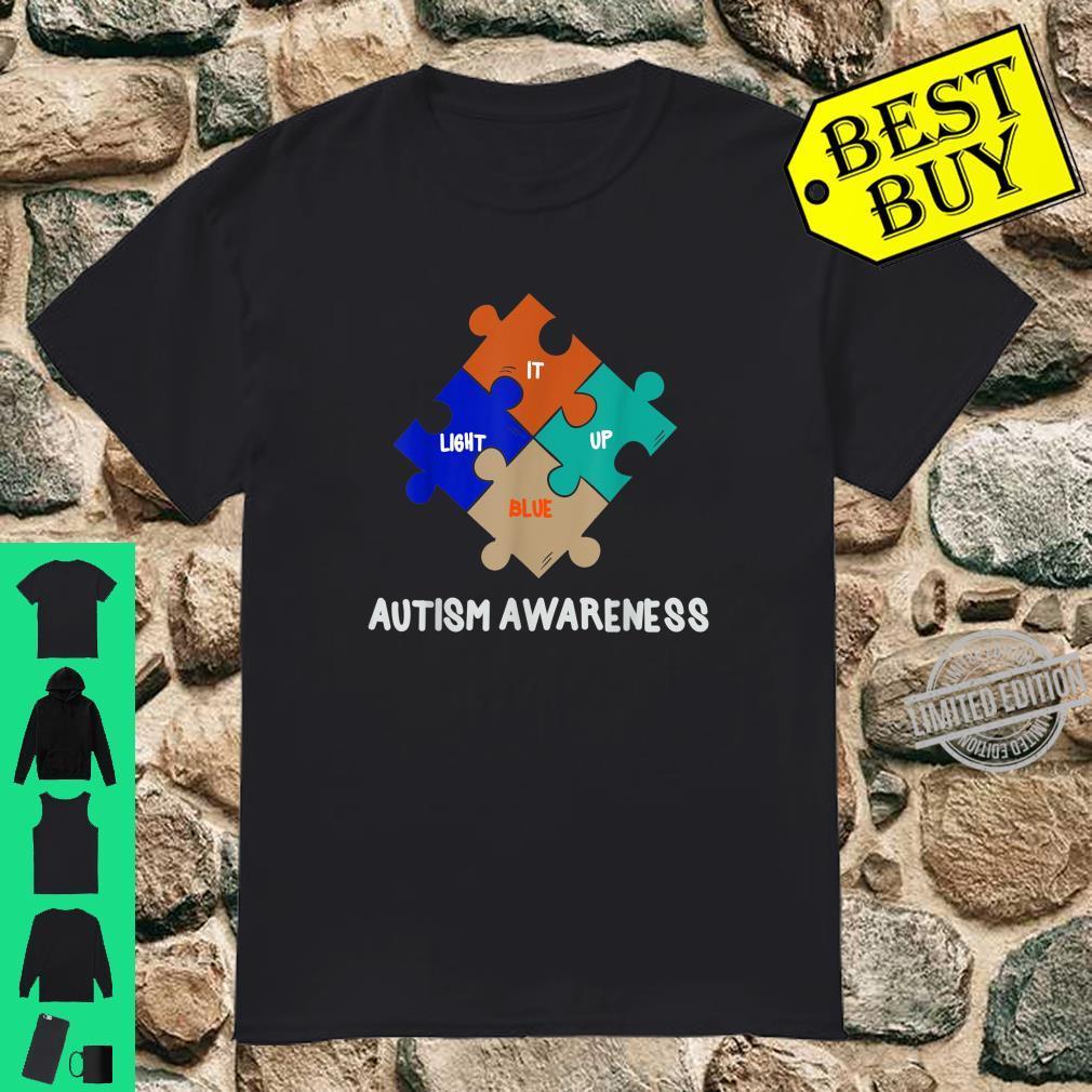 LIGHT IT UP BLUE Autism Awareness Day Shirt