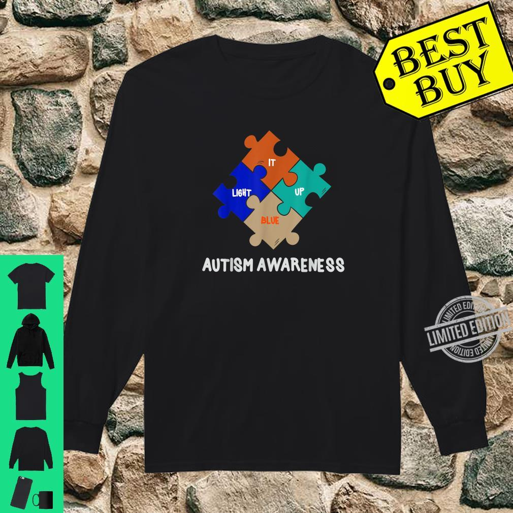 LIGHT IT UP BLUE Autism Awareness Day Shirt long sleeved