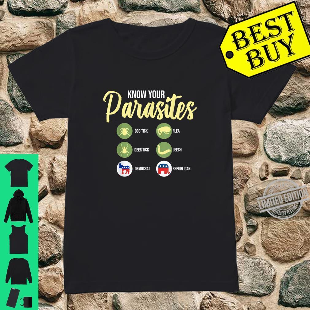 Libertarian Shirt Know Your Parasites Shirt ladies tee
