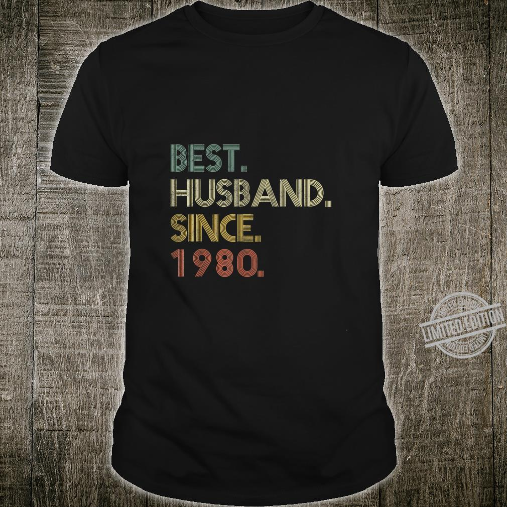 Mens Best Husband Since 1980 Epic Couple 40th Wedding Anniversary Shirt
