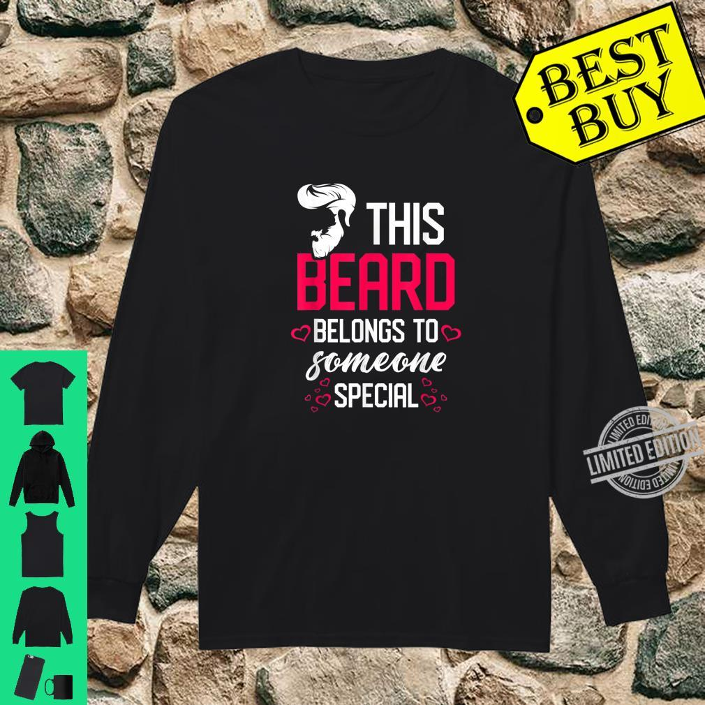 Mens This beard belongs to someone special Bearded Dad Shirt long sleeved