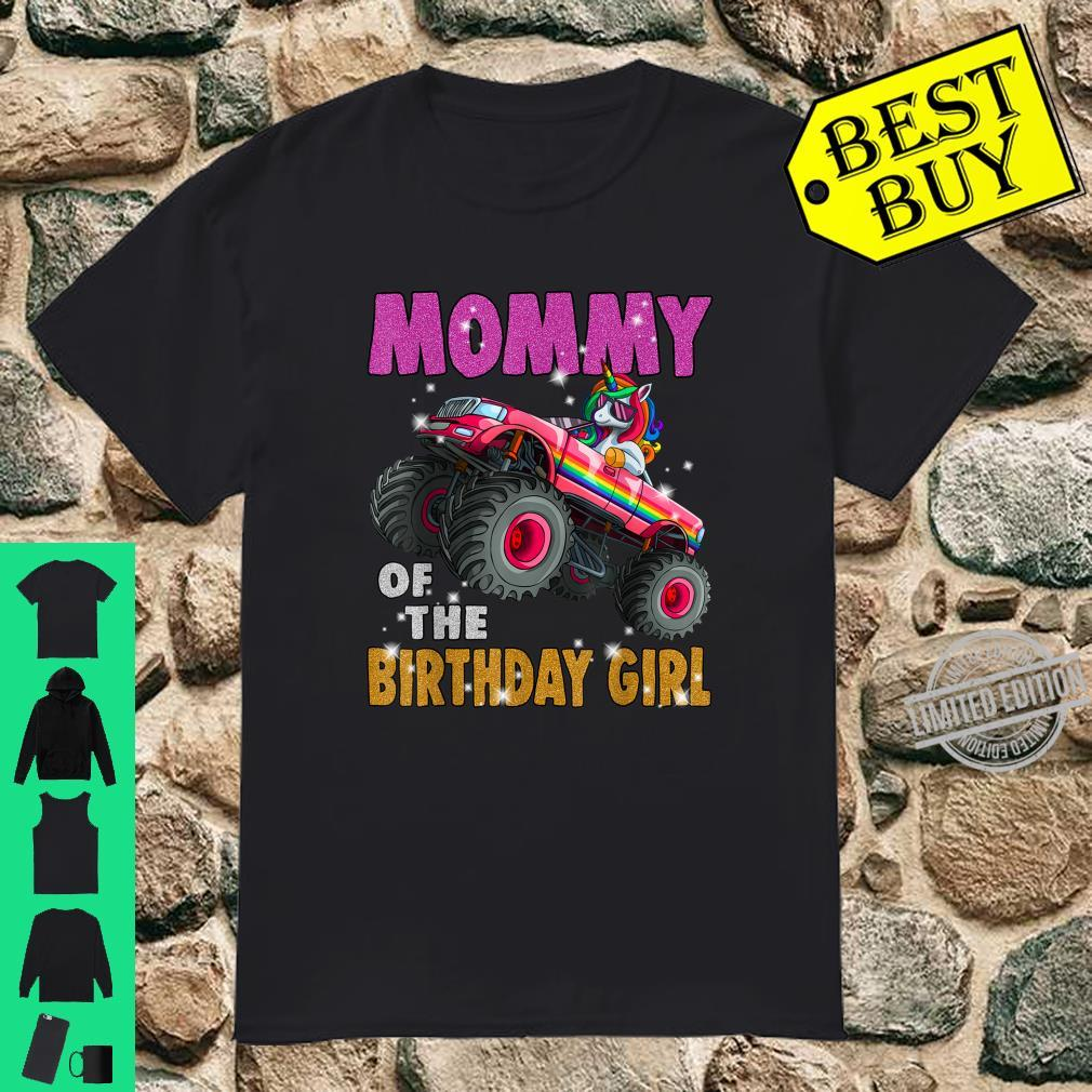 Mom of the Birthday Girl Shirt Unicorn Monster Truck Shirt