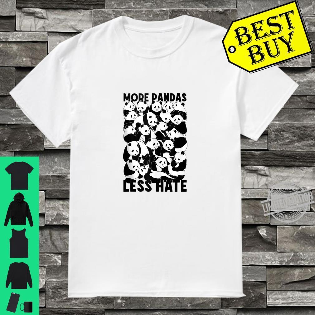 More Pandas Less Hate Cute Panda Bear Zoology Shirt