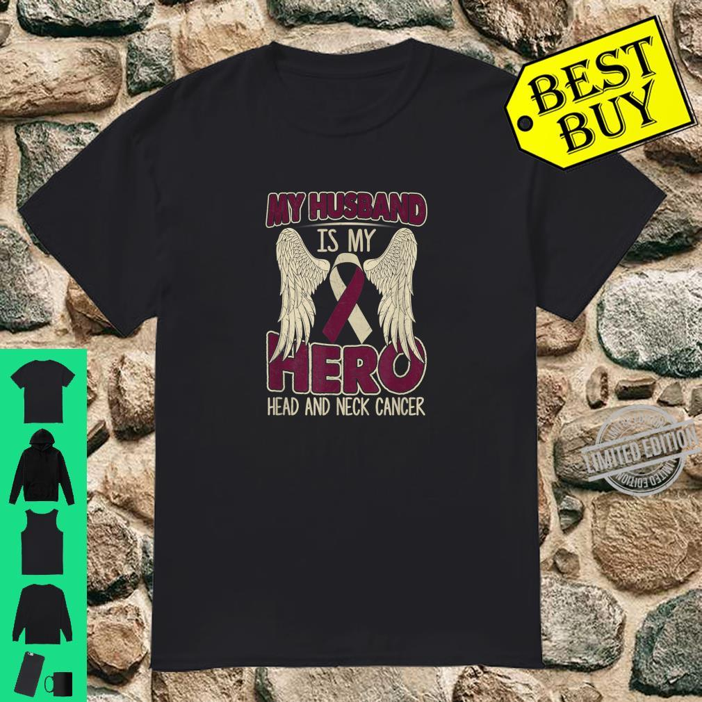My Husband Is My Hero Costume Head & Neck Cancer Awareness Shirt