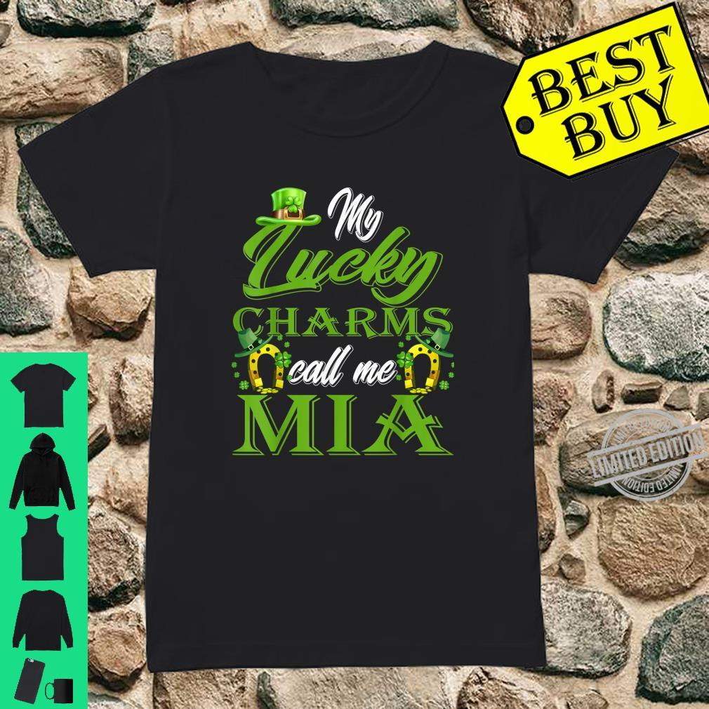 My Lucky Charms Call Me Mia St Patrick's Day Shirt ladies tee