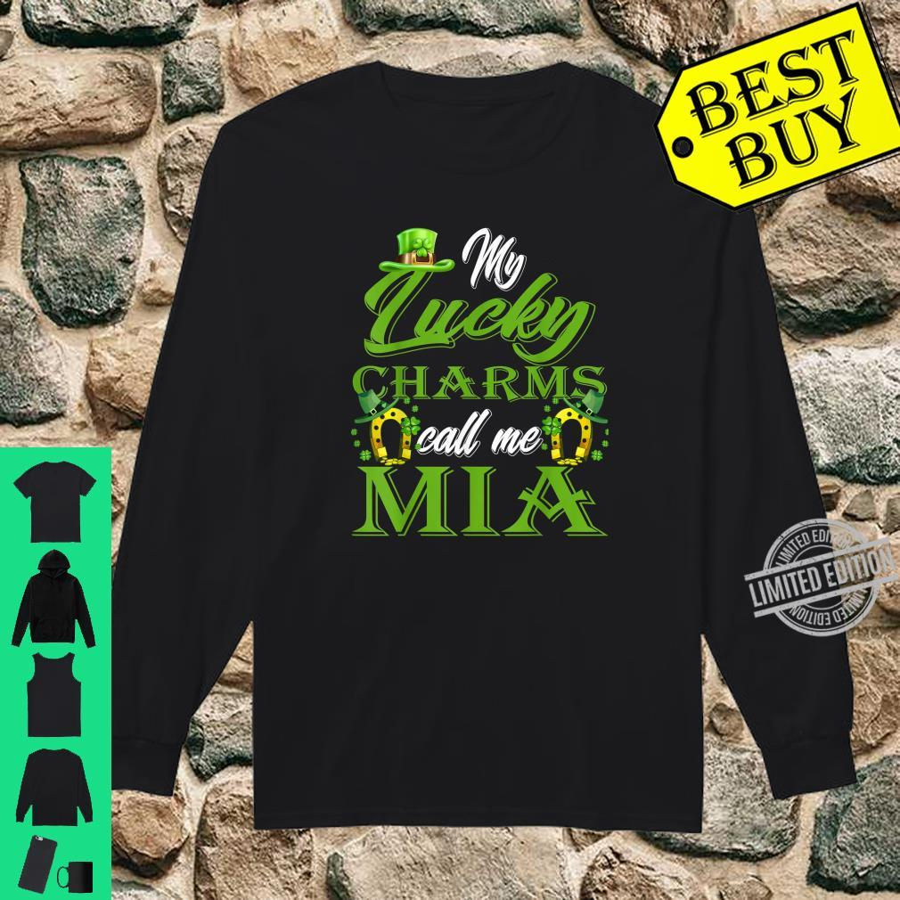 My Lucky Charms Call Me Mia St Patrick's Day Shirt long sleeved