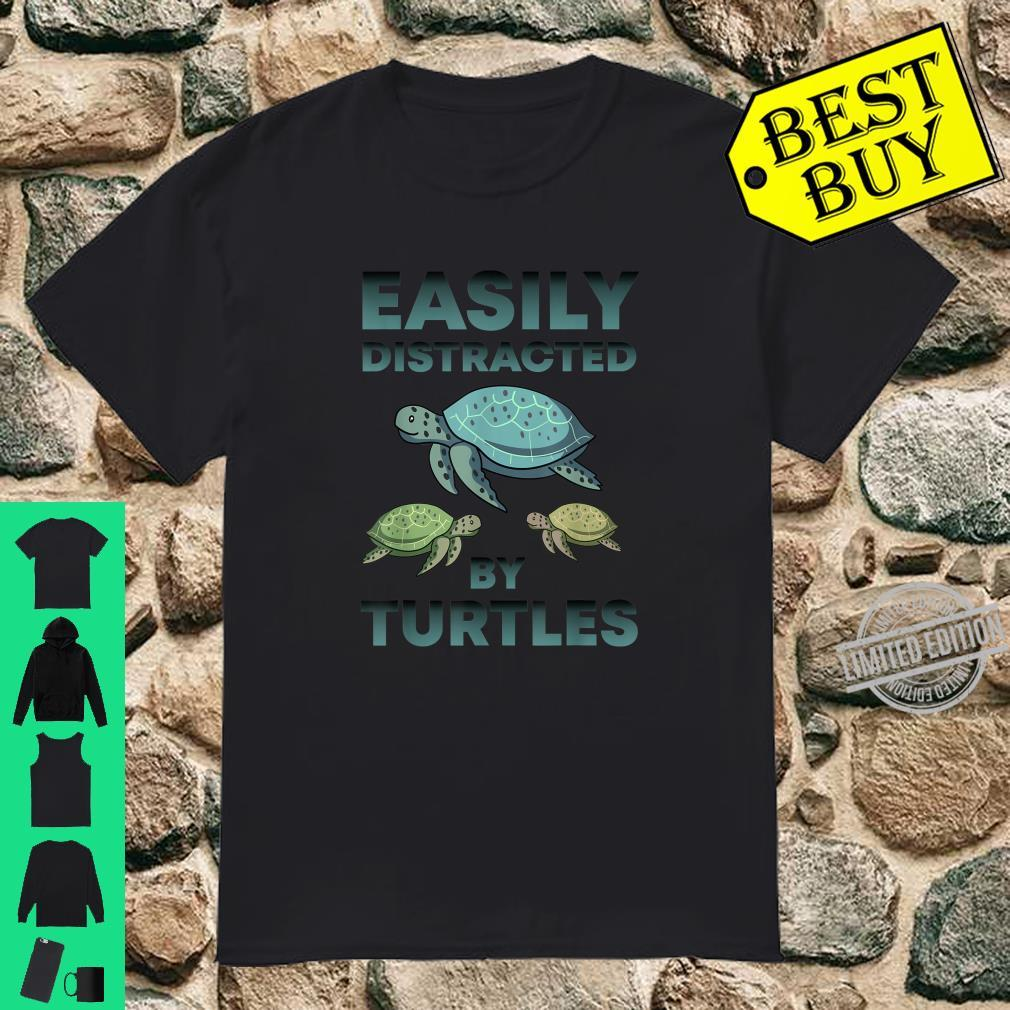 Official Easily Distracted By Turtles Cute Sea Turtle Shirt
