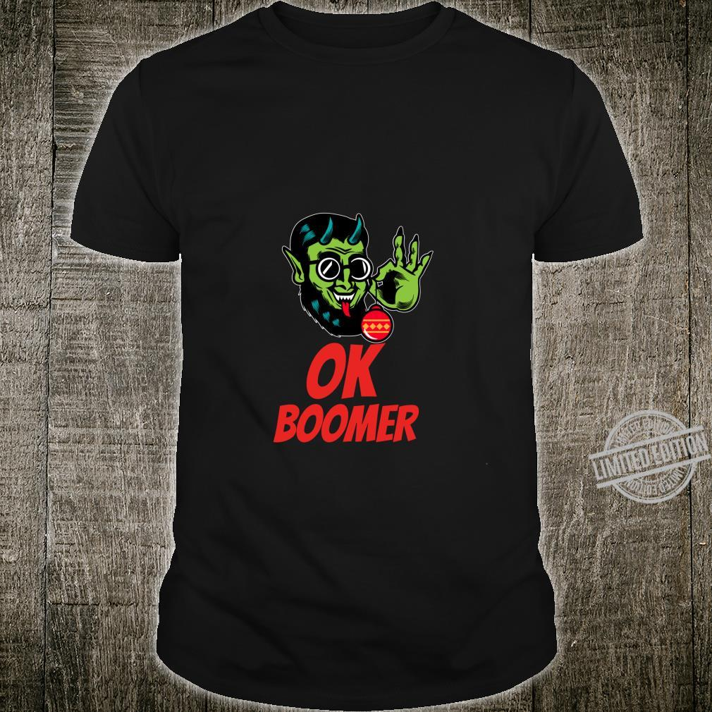 Ok Boomer Says Gruss Vom Krampus Meme Ugly Christmas Shirt