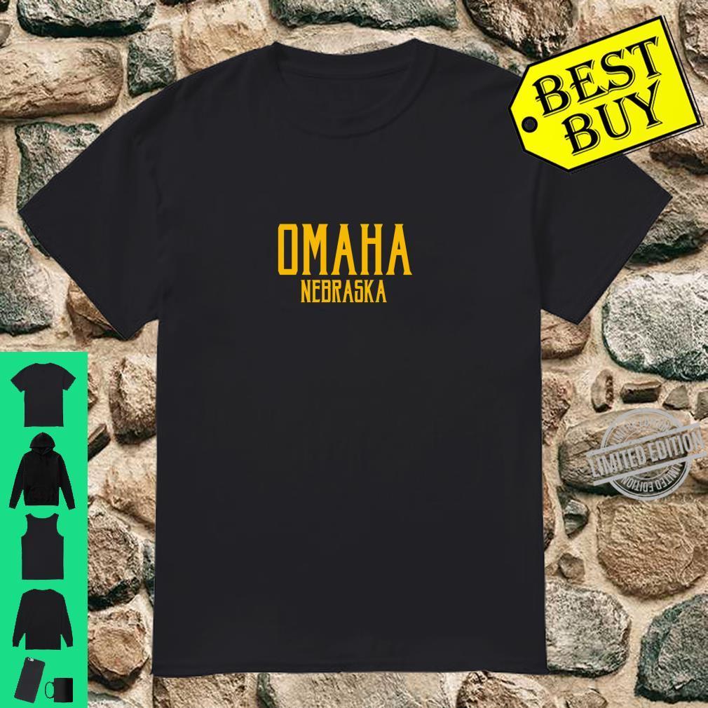 Omaha Vintage Text Amber Print Shirt