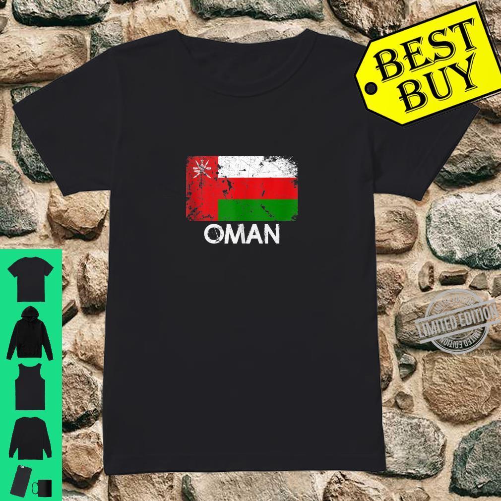 Omani Flag Vintage Made In Oman Shirt ladies tee