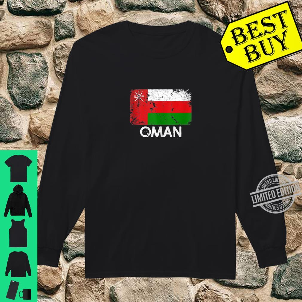 Omani Flag Vintage Made In Oman Shirt long sleeved