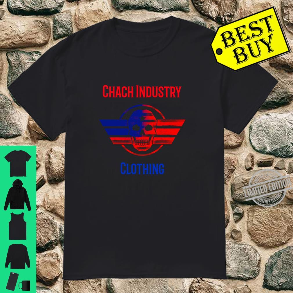 Patriotic Red and Blue Flying Skull By Chach Ind. Clothing Shirt