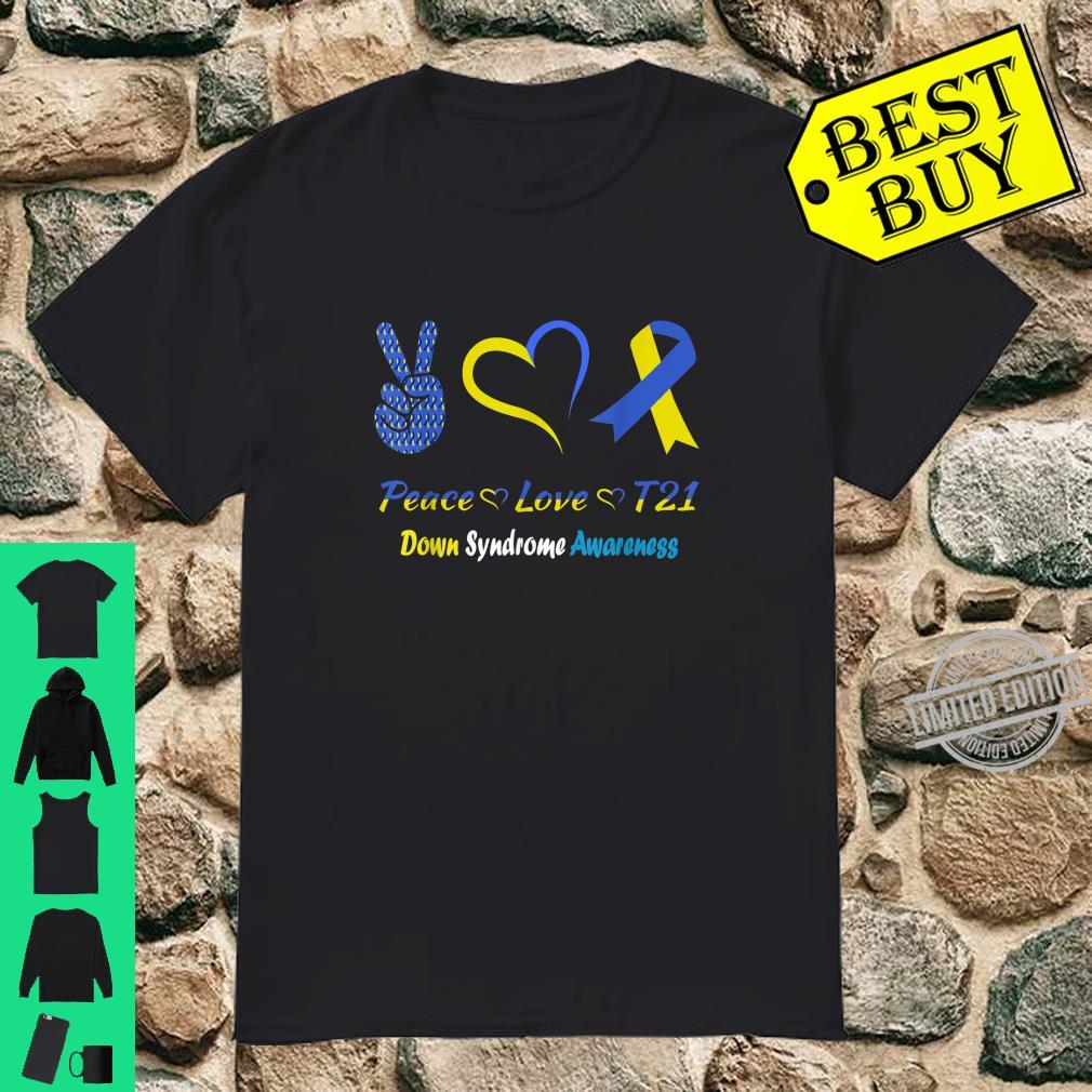 Peace Love Trisomy 21 Day Cure Down Syndrome Awareness Shirt
