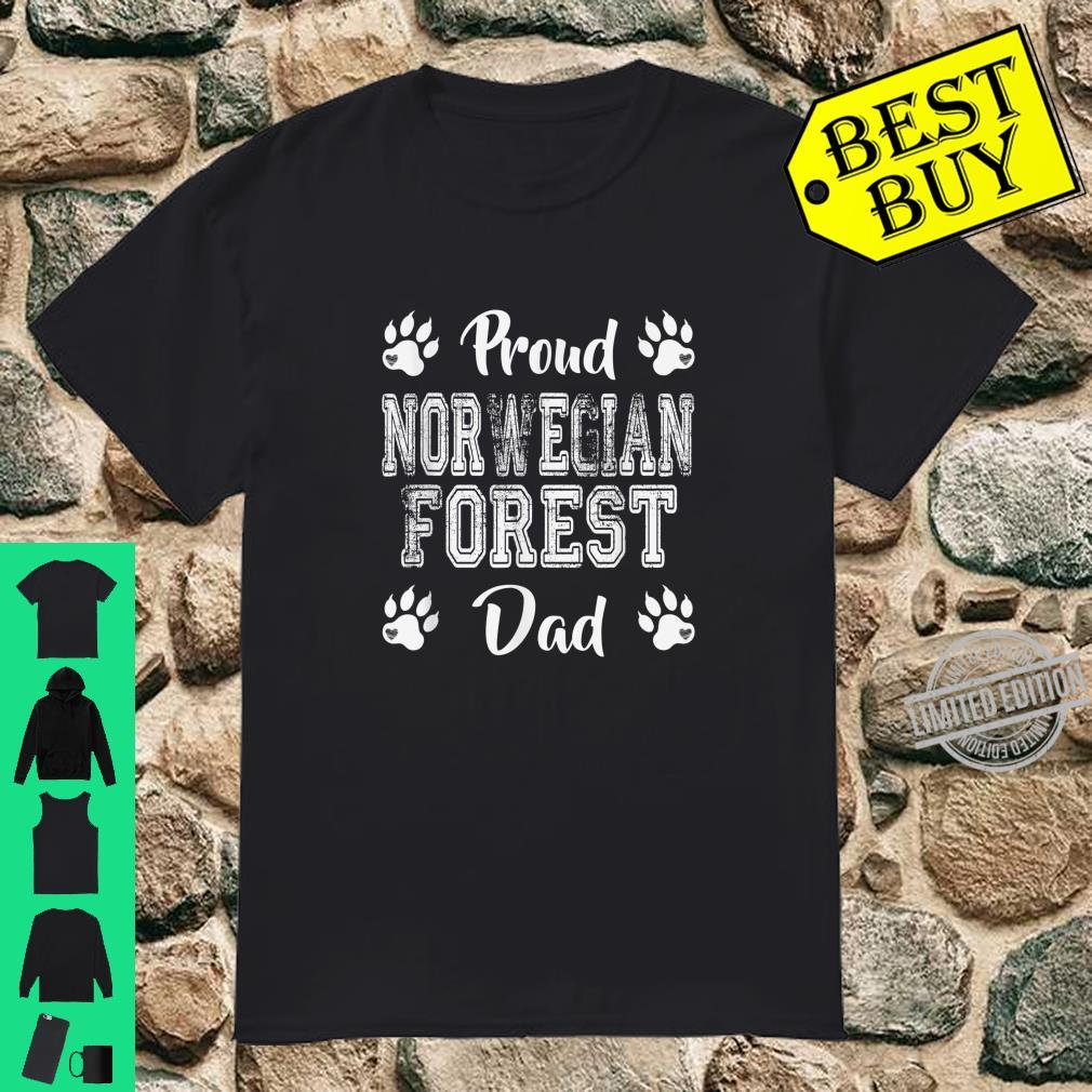 Proud Norwegian Forest Cat Dad Paws Family son Shirt