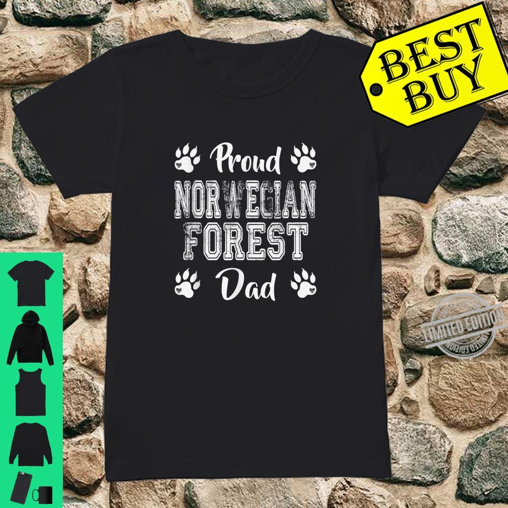 Proud Norwegian Forest Cat Dad Paws Family son Shirt ladies tee