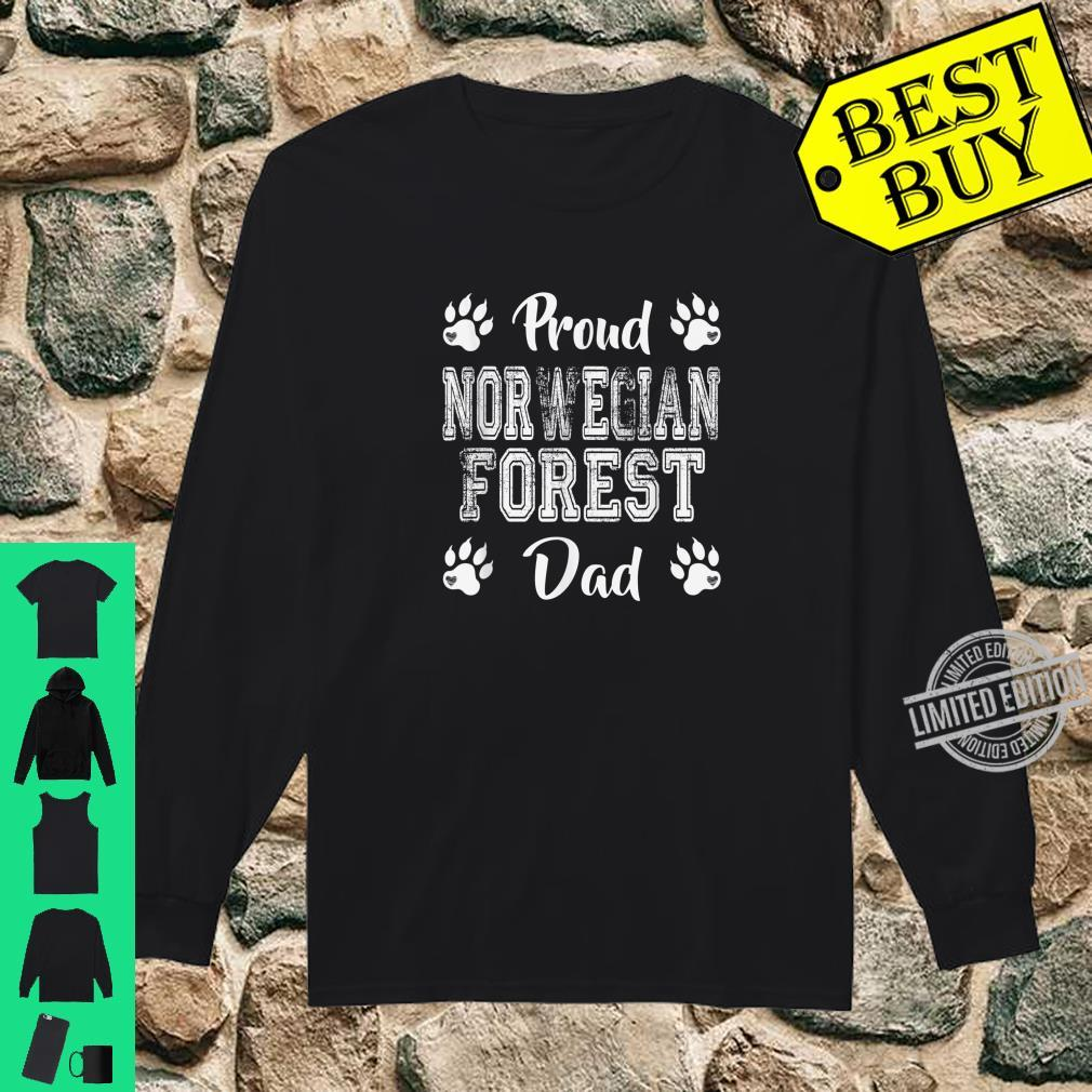 Proud Norwegian Forest Cat Dad Paws Family son Shirt long sleeved