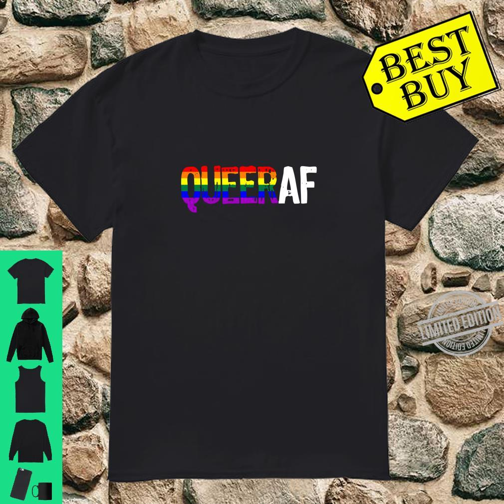 QUEER AF Queer as Fuck LGBTQ Pride Shirt