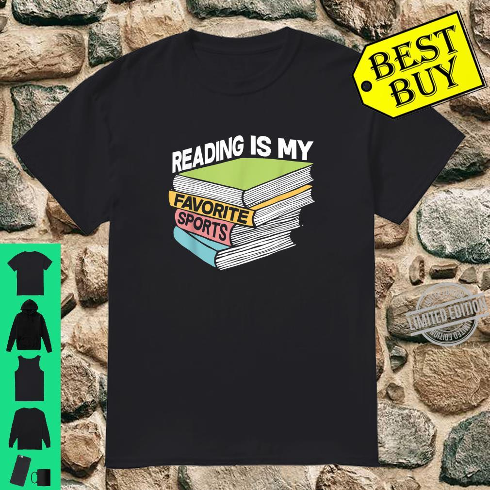 Reading Is My Favorite Sports Book Reader Shirt