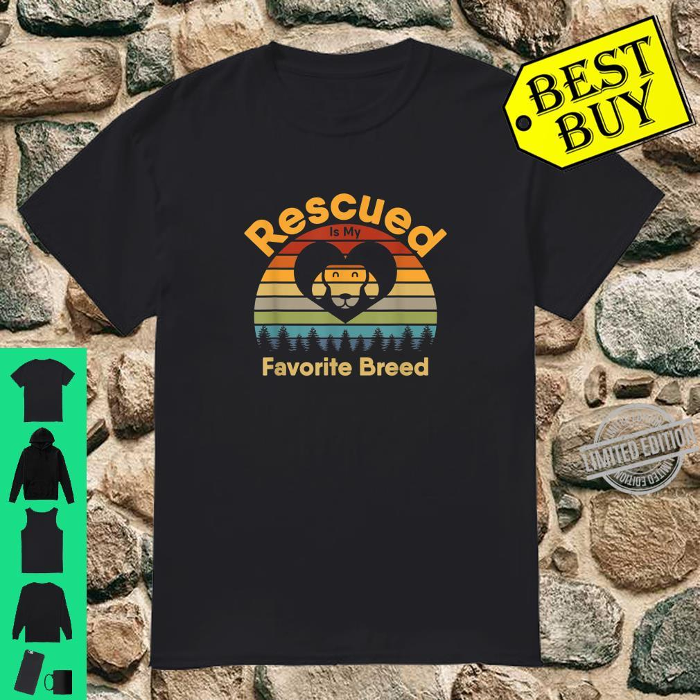 Rescued Is My Favorite Breed Retro 70s Sunset Off Camping Shirt