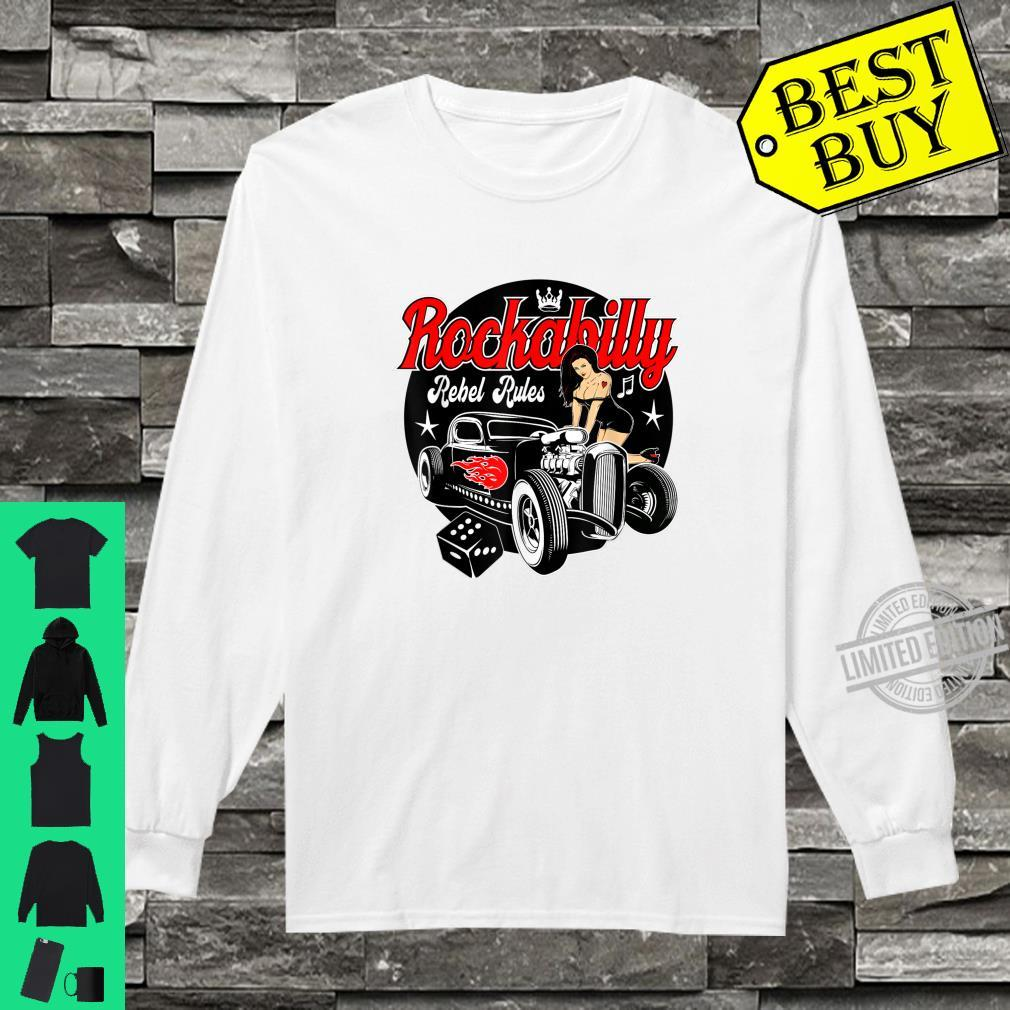 Rockabilly Hotrod Classic Car Shirt Sock Hop Clothes Rocker Shirt long sleeved