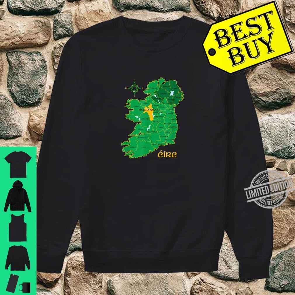 Roscommon Ireland County Map Eire Irish Travel Celtic Shirt sweater