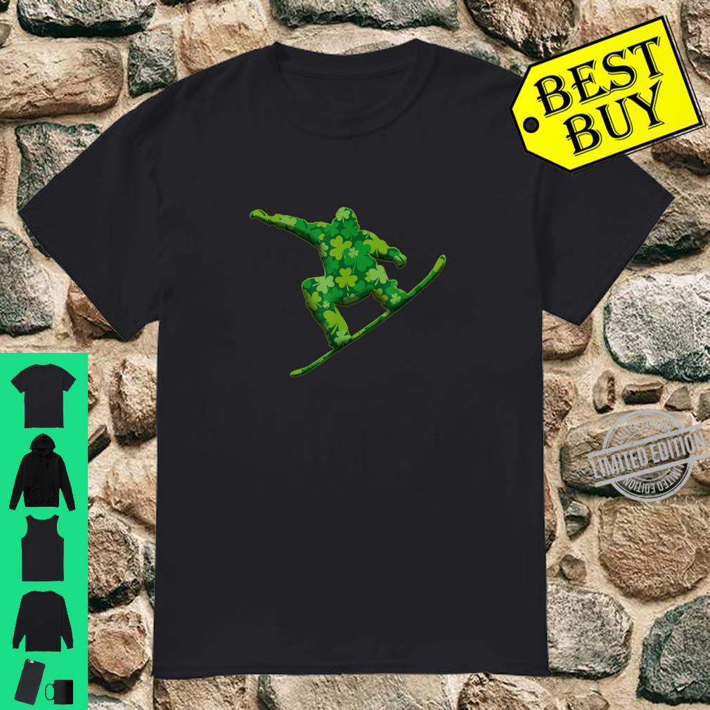 Snowboarding Shamrock St Patricks Irish Shirt
