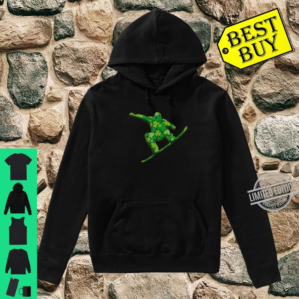 Snowboarding Shamrock St Patricks Irish Shirt hoodie