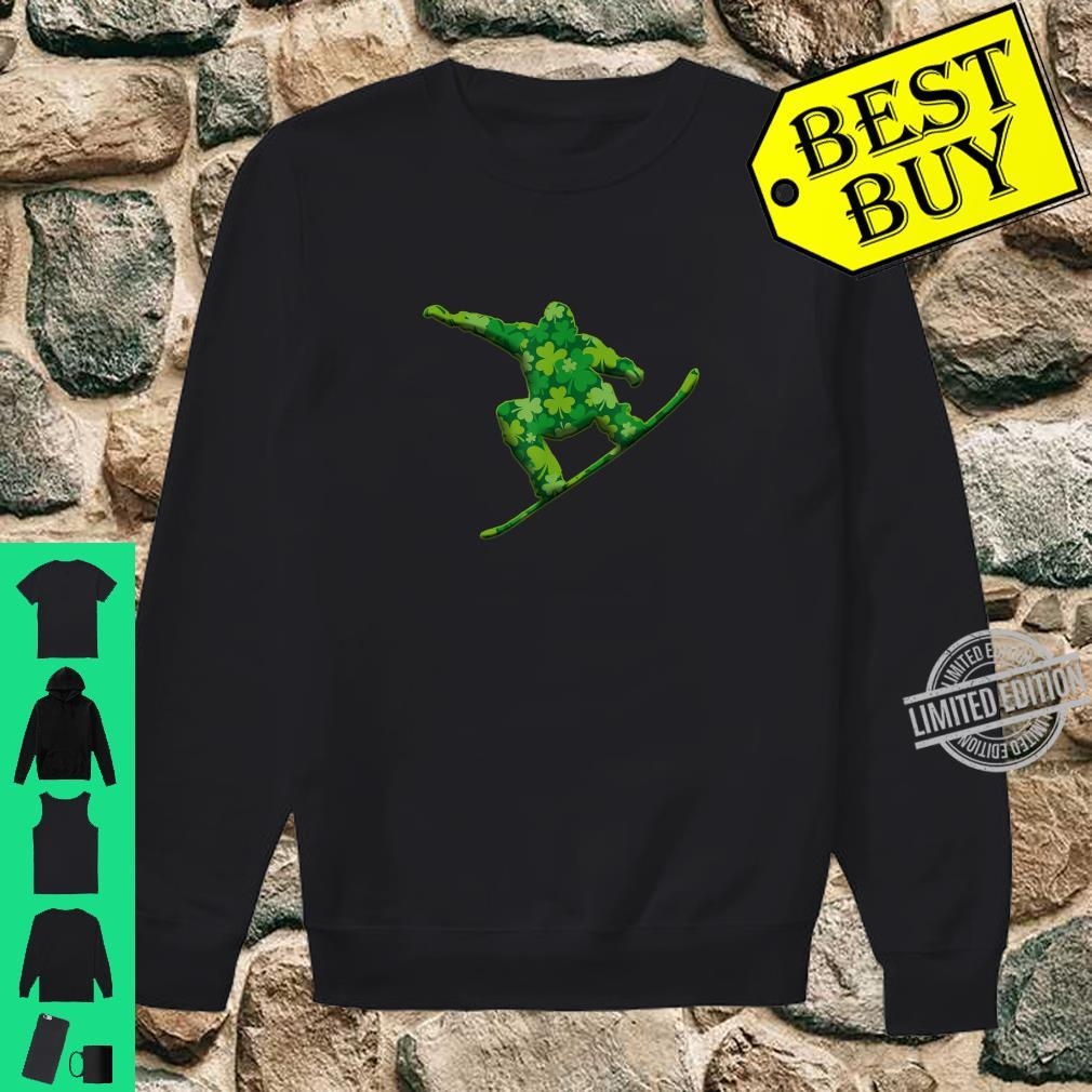 Snowboarding Shamrock St Patricks Irish Shirt sweater