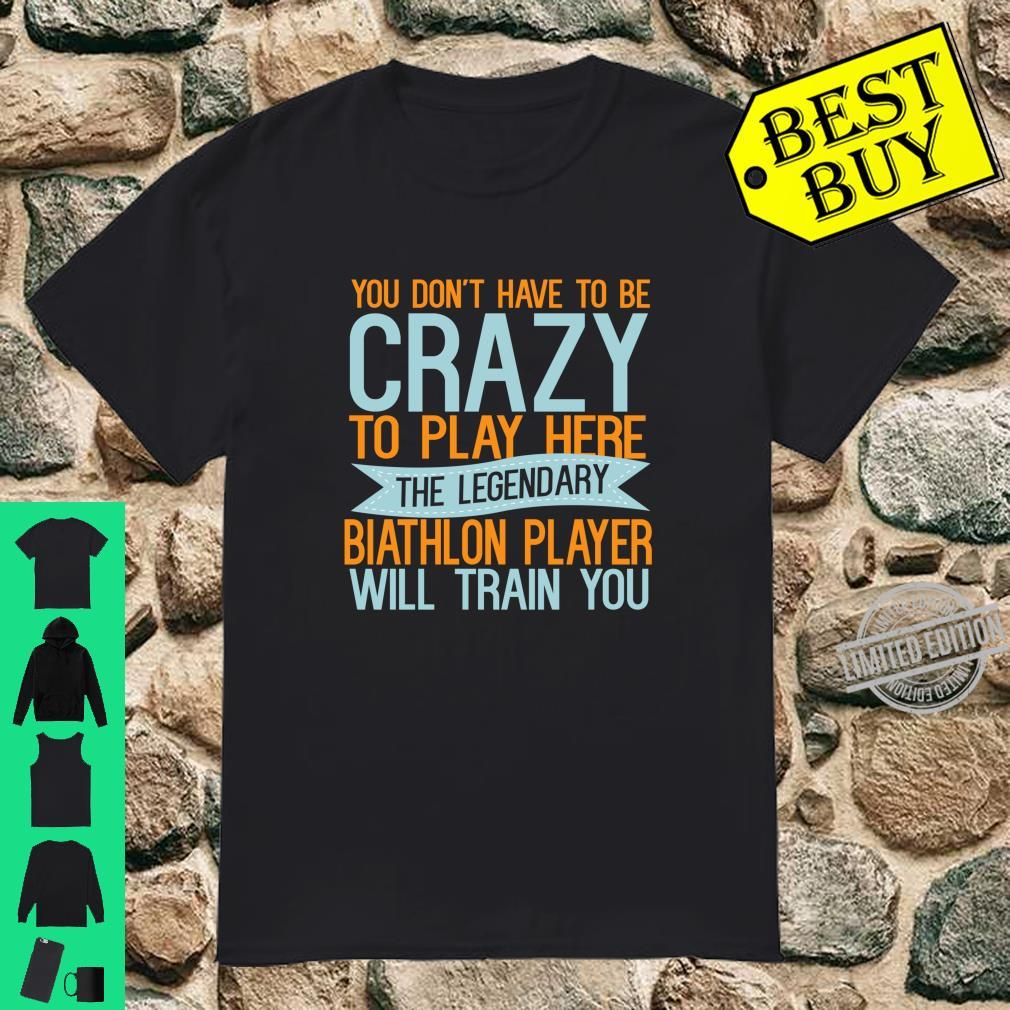 Sports God Be With Biathlon Player Shirt
