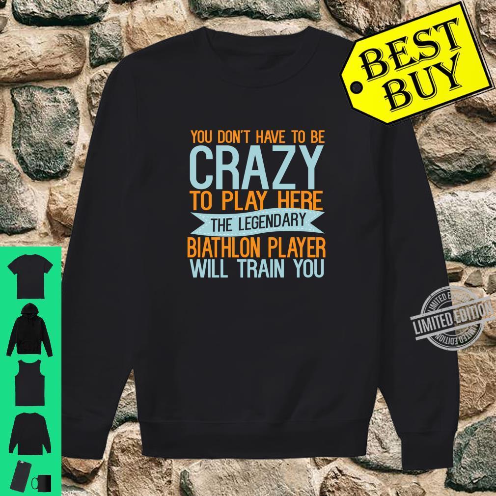 Sports God Be With Biathlon Player Shirt sweater