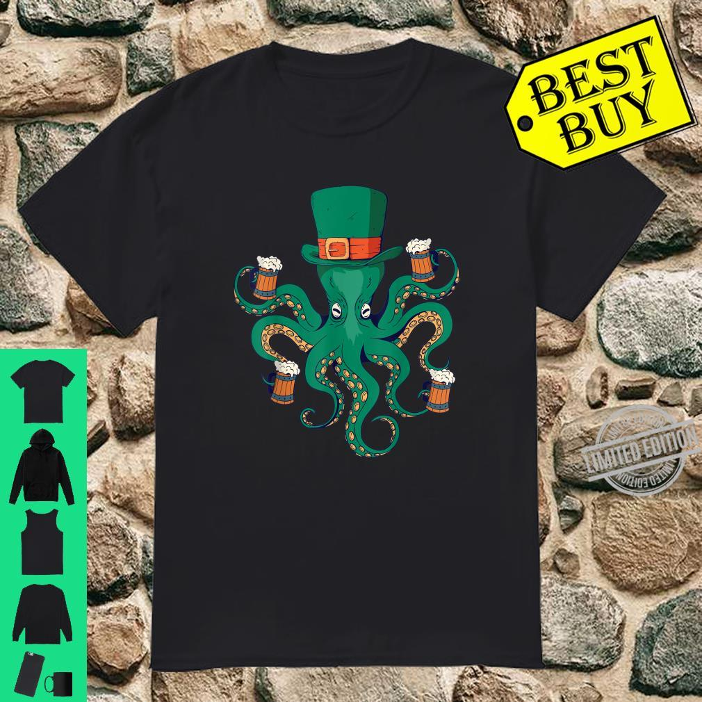 St Patrick's Day Beer Octopus Shirt