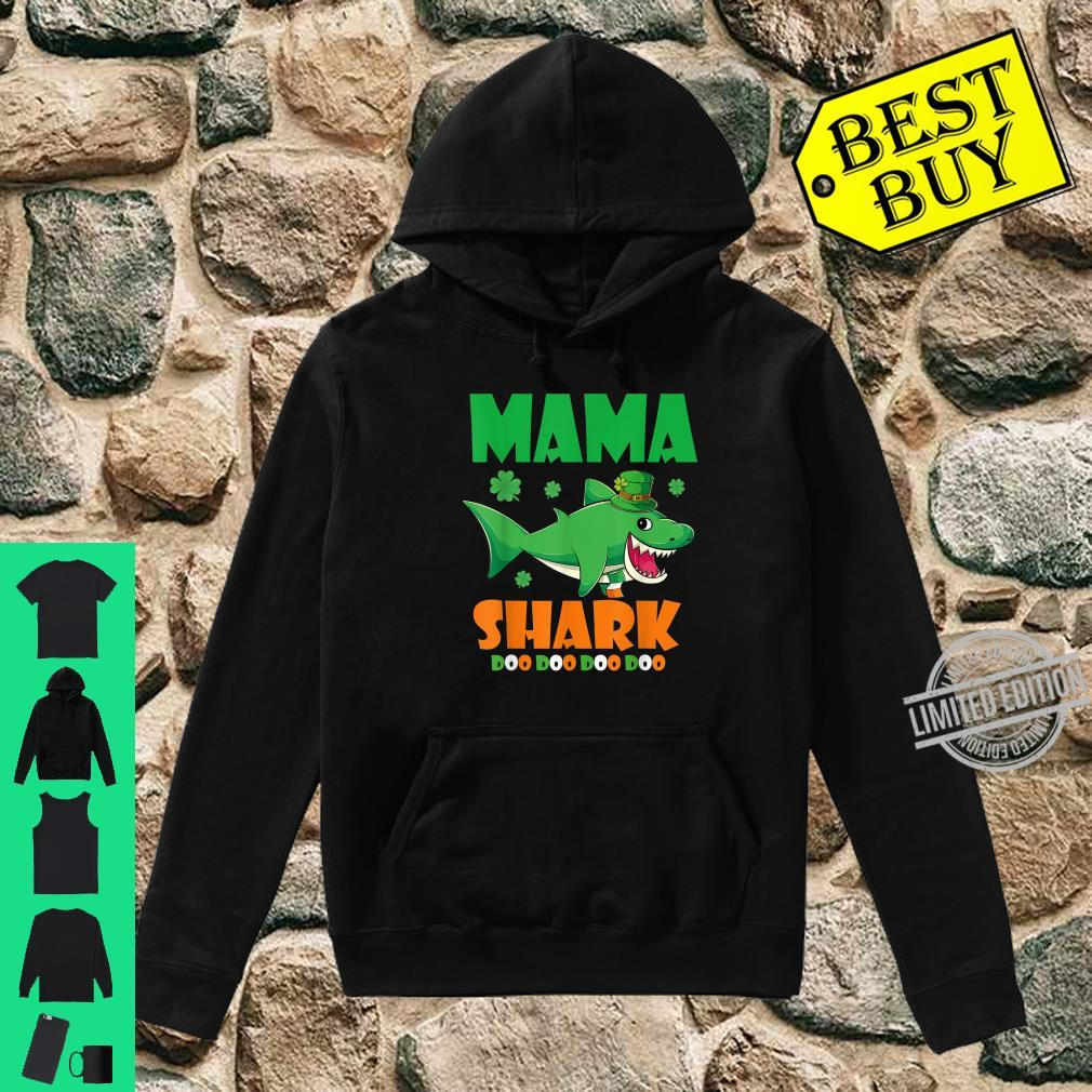 St Patricks Day Mama Shark Shirt hoodie