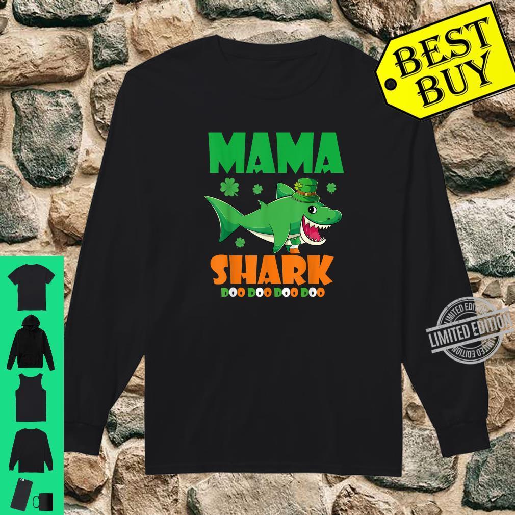 St Patricks Day Mama Shark Shirt long sleeved