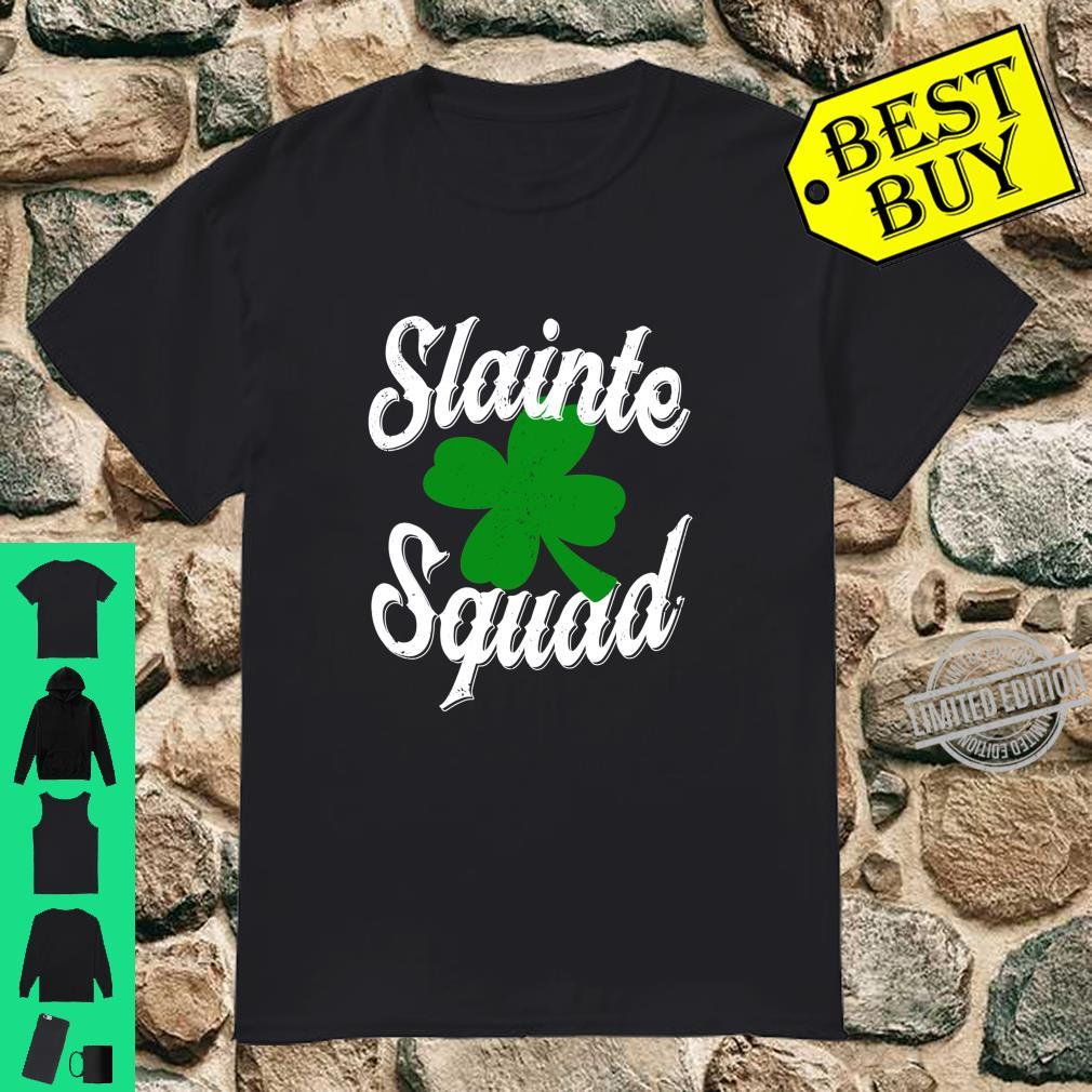 St Patrick's Day Slainte Squad Irish Clover Drinking Shirt