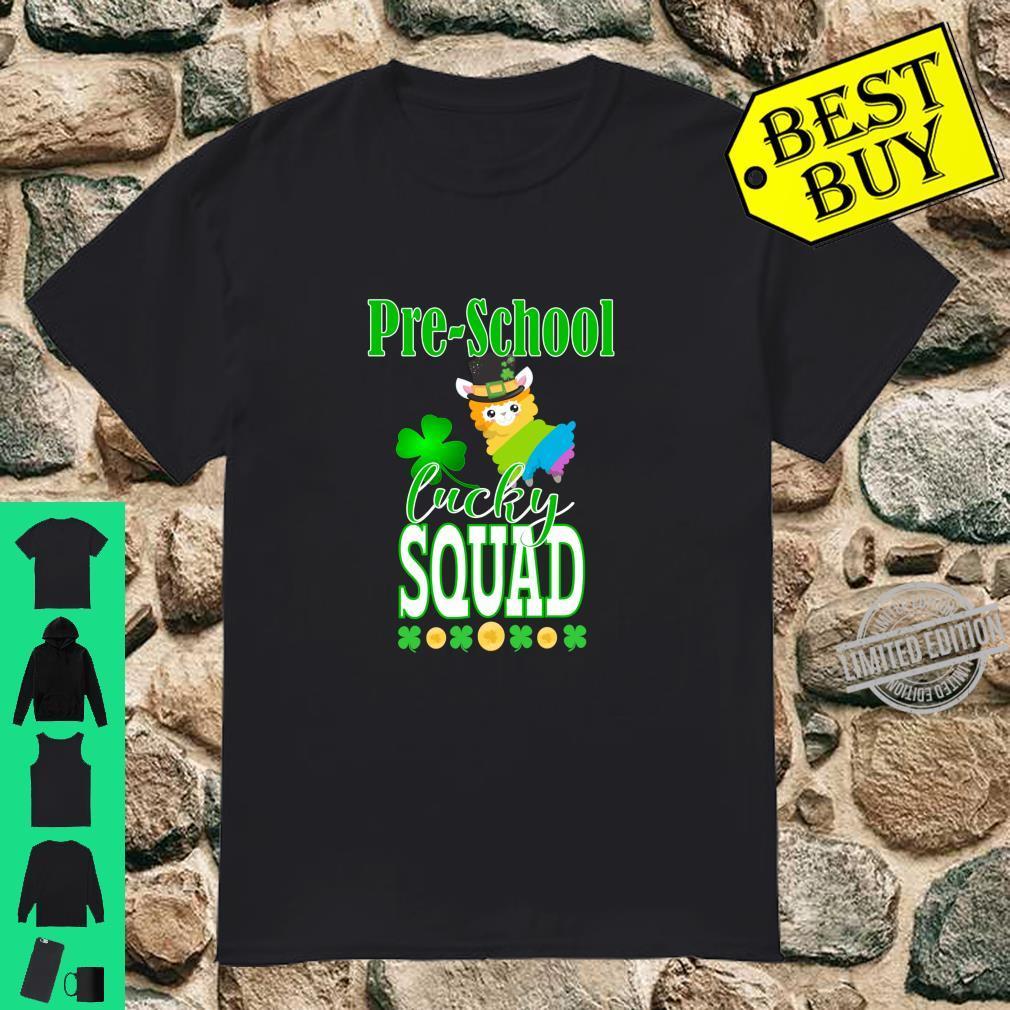 St Patrick's PreSchool Teacher Student Cute Llama Squad Shirt