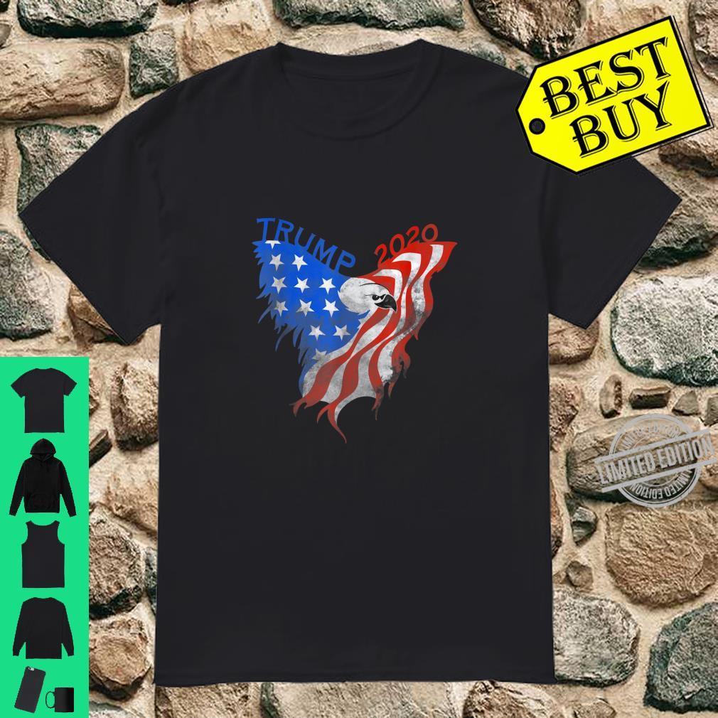 Trump 2020 american eagle vintage flag Shirt