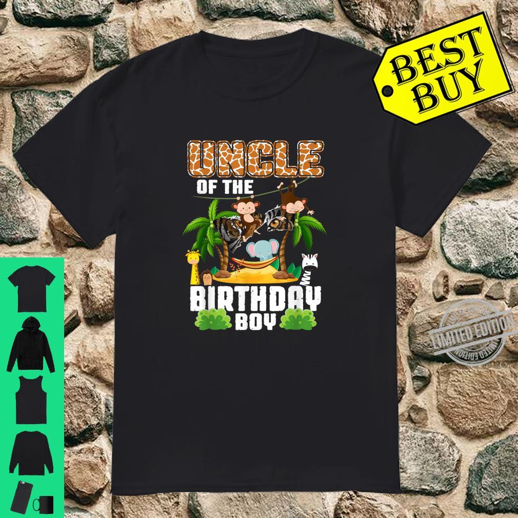 Uncle Of The Birthday Boy Zoo Theme Animal Party Man Costume Shirt