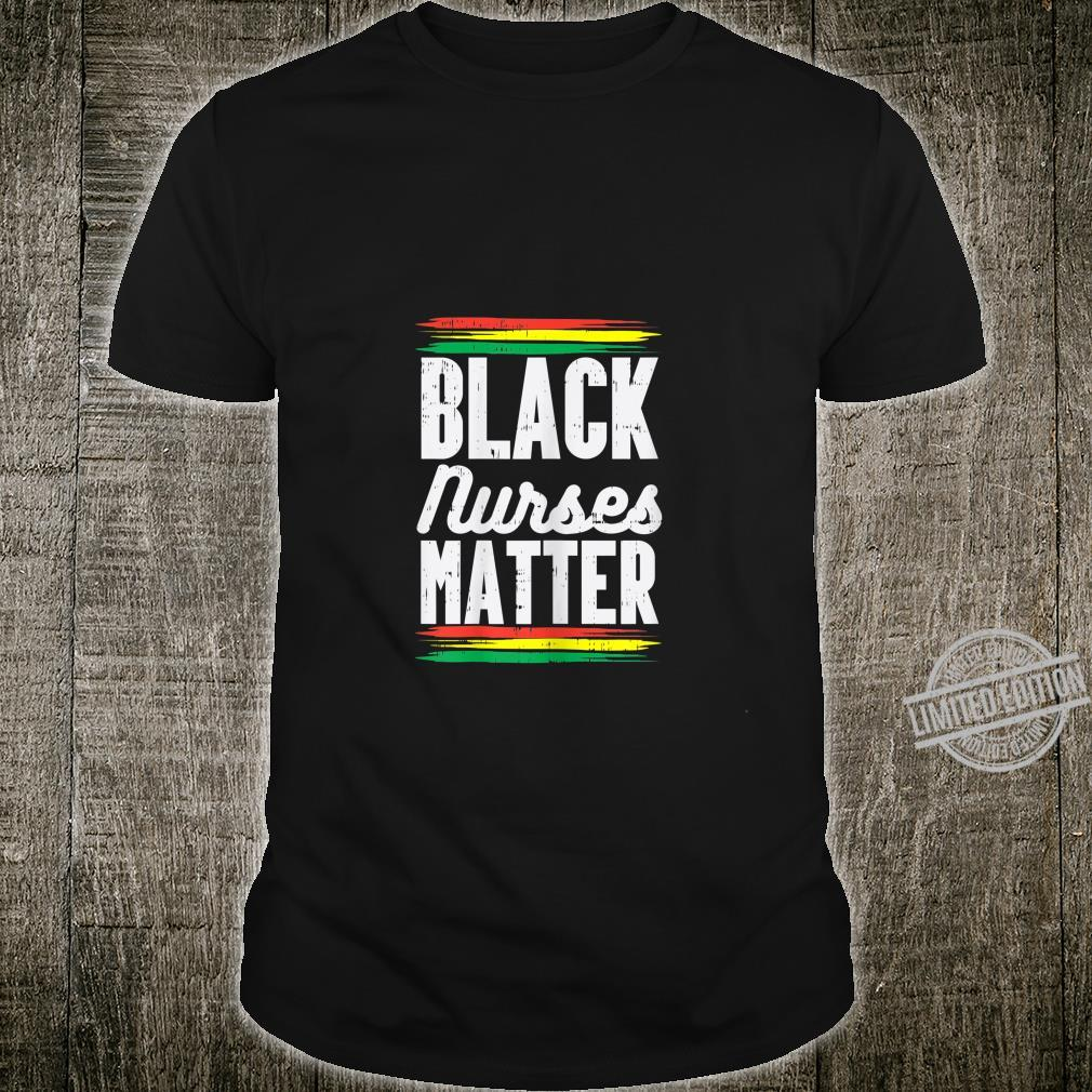 Womens Black Nurses Matter Kente Melanin Girl African American Shirt